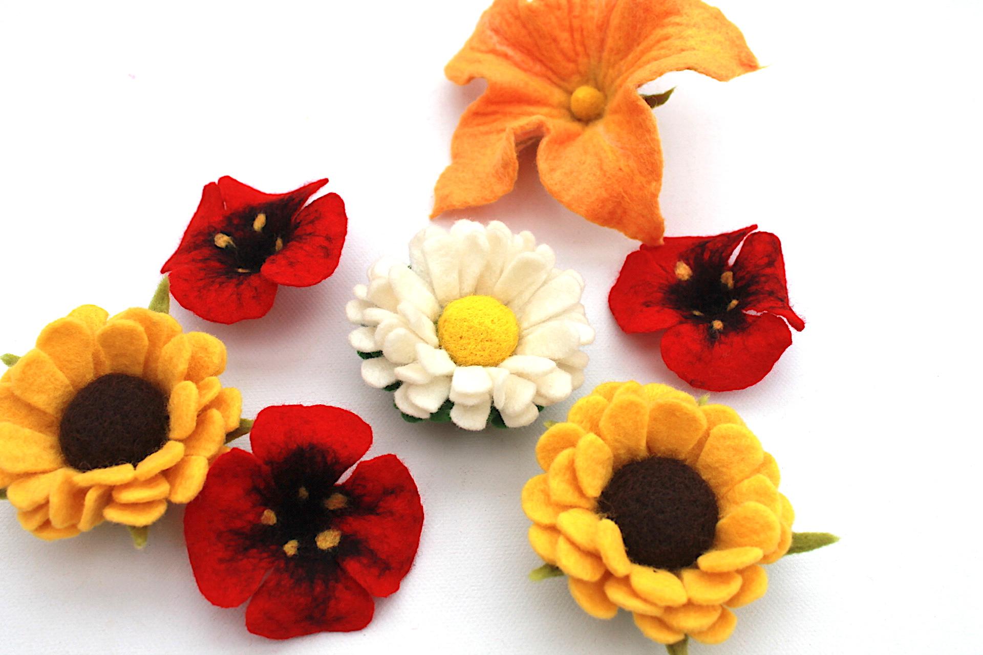 Mafizde Gefilzte Blüten Zum Basteln Als Applikation Für